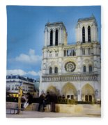 Notre Dame Cathedral Paris 3 Fleece Blanket