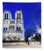 Notre Dame Cathedral Paris 4 Fleece Blanket
