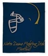 Notre Dame Fighting Irish Helmet Fleece Blanket