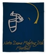 Notre Dame Fighting Irish Helmet Fleece Blanket