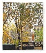 Notre Dame From The Window Fleece Blanket