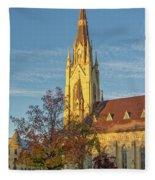 Notre Dame University Basilica Of The Sacred Heart Fleece Blanket