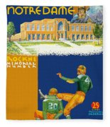 Notre Dame Versus Minnesota 1938 Program Fleece Blanket