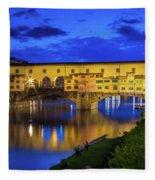 Notte A Ponte Vecchio Fleece Blanket