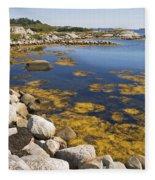 Nova Scotia Seascape Fleece Blanket