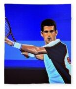 Novak Djokovic Fleece Blanket