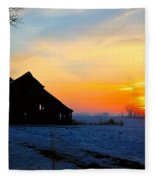 November Barn 2 Fleece Blanket