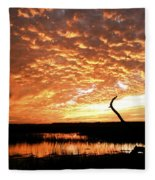 November Evening Fleece Blanket