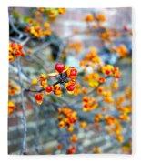 November Garden Wall Fleece Blanket