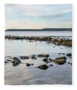 November Seascape 5 - Lyme Regis Fleece Blanket