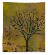 November Tree Fleece Blanket