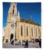 Novi Sad Cathedral Fleece Blanket