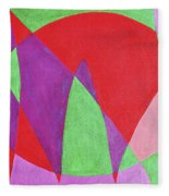 Now In Abstract Text Art Fleece Blanket