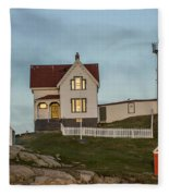 Nubble At Sunset Fleece Blanket