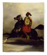 Nubian Horseman At The Gallop Fleece Blanket