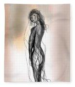 Nude 14 Fleece Blanket