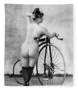 Nude And Bicycle, C1885 Fleece Blanket