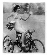 Nude And Bicycle, C1900 Fleece Blanket