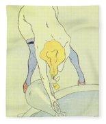 Nude Bathing Fleece Blanket
