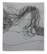 Nude I Fleece Blanket