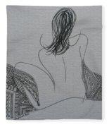 Nude II Fleece Blanket