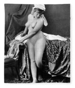 Nude In Bonnet, C1885 Fleece Blanket
