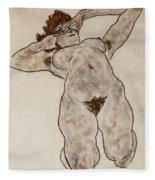 Nude Lying Down Fleece Blanket