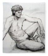 Nude Man Fleece Blanket