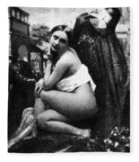 Nude Posing, C1843 Fleece Blanket