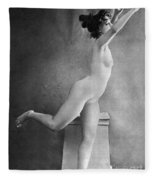 Nude Posing, C1900 Fleece Blanket