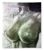 Nude Woman V Fleece Blanket