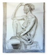 Nude Woman Viii Fleece Blanket