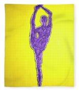 Nude Yoga Girl Violet Fleece Blanket