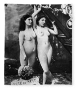Nudes At Festival, C1900 Fleece Blanket