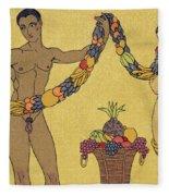 Nudes  Illustration From Les Chansons De Bilitis Fleece Blanket