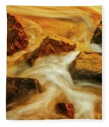 Nuggets Of Gold Fleece Blanket by Rick Furmanek