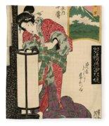 Numazu Senju Of The Sakaya 1823 Fleece Blanket