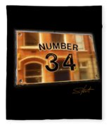 Number 34 Fleece Blanket