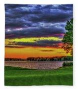 Number 4 The Landing Reynolds Plantation Golf Art Fleece Blanket