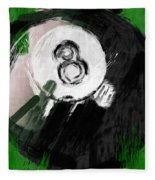 Number Eight Billiards Ball Abstract Fleece Blanket