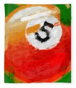 Number Five Billiards Ball Abstract Fleece Blanket