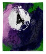 Number Four Billiards Ball Abstract Fleece Blanket