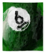 Number Six Billiards Ball Abstract Fleece Blanket