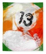 Number Thirteen Billiards Ball Abstract Fleece Blanket