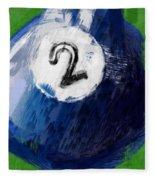 Number Two Billiards Ball Abstract Fleece Blanket