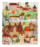 Nuremberg Germany Fleece Blanket