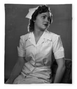 Nurse Rembrandt Lighting Fleece Blanket
