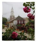 Nursery Garden Roses Fleece Blanket