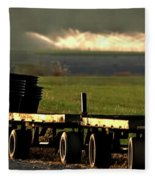 Nursery Wagons Fleece Blanket