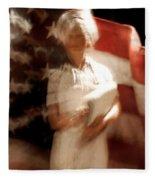 Nursing America Fleece Blanket